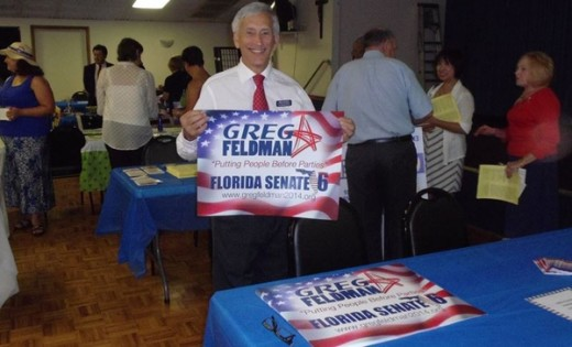 Who do you prefer the myopic sweet Democrat?  The seasoned albeit colorful spendthrift in conservative clothing who has been been applying to be President of Florida State University while running for Florida Senate?  Or honest Mr. Feldman?