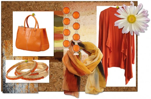 Our selection of orange accessories.