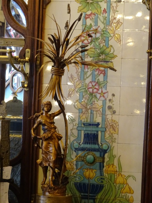 Decoration in a lovely old cafe, Paris