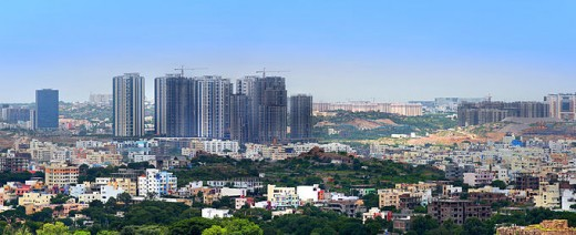 A panoramic view of Hyderabad