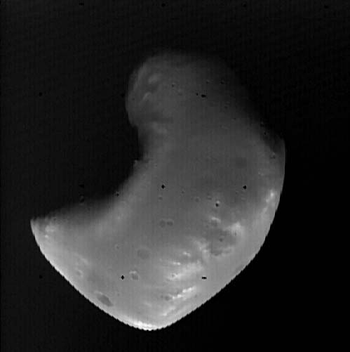 Image of Deimos taken by the Viking I space probe in 1977.
