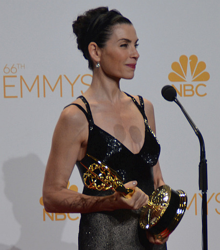 "Juliana Margulies at the 66th Emmy Awards awarded for her role in ""The Good Wife"""
