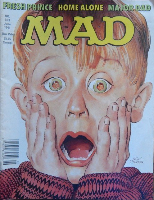 Home Alone with Mad magazine.