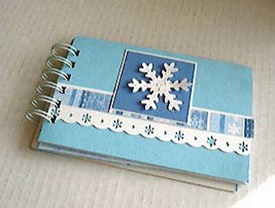 Small Mini Album with Winter Theme