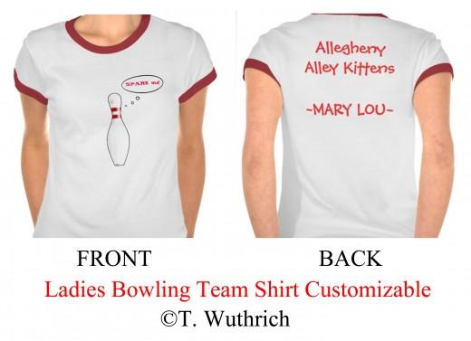 Funny Ladies Bowling Team Shirts
