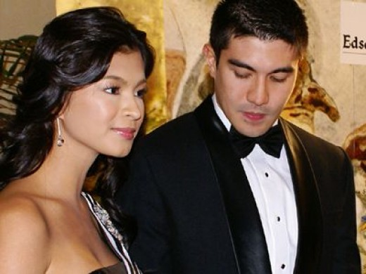 "Angel Locsin with Luis ""Lucky"" Manzano"