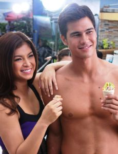 Angel Locsin with Phil Younghusband