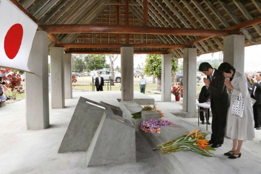 Prime Minister Shinzo Abe's visit of the WW2 Japanese memorial is a source of ire to many Asian nations who still hold Japan accountable to their past war crimes.  Many of those events are said to have been edited out of Japanese school books