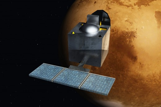 Mangalyaan in Mars's orbit - an artistic concept
