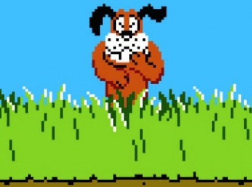 This stupid dog would always laugh at you when you failed to hit the ducks. What an ass.