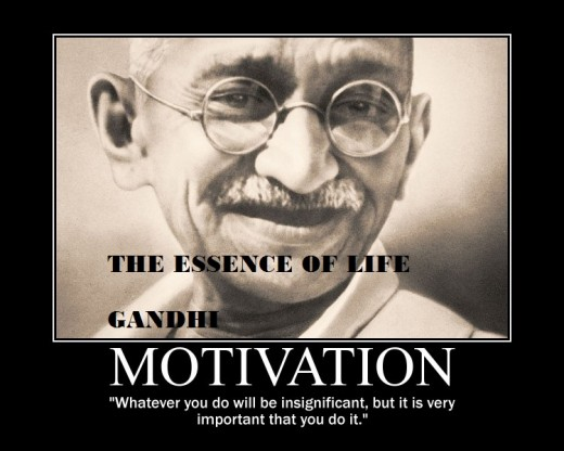 """Gandhi terms the """"completion"""" of any assigned task significant."""