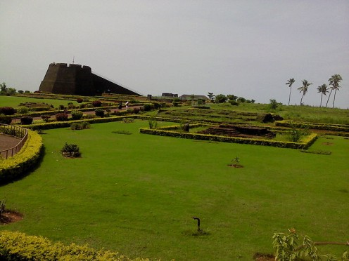 Kerala's unique greenery. Another  view of Bekal Fort
