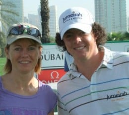 Me and Rory McIlroy!