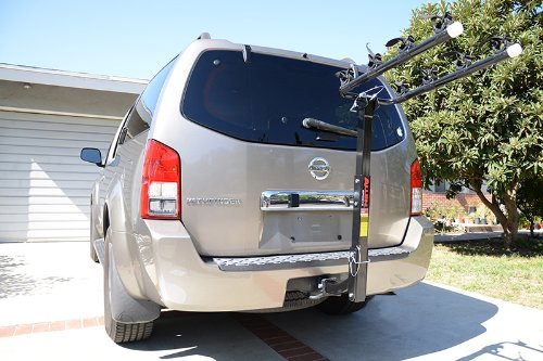 SUV mount from the trailer hitch using Allen Sports Deluxe 4 Bike Rack system