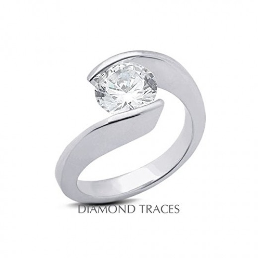 A twist tension setting by Diamond Traces