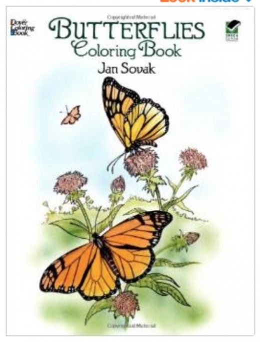Click the link to the left to see this beautiful butterfly coloring book.