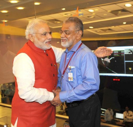 Prime Minister of India Narendra Modi congratulated ISRO chairperson K