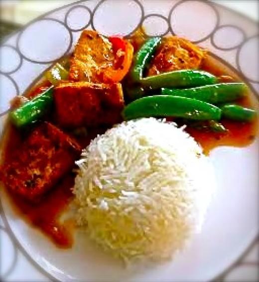 Stir-fried Ginger Tofu