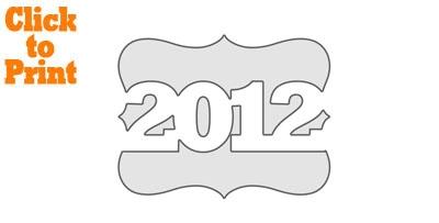 2012 Frame Stencil