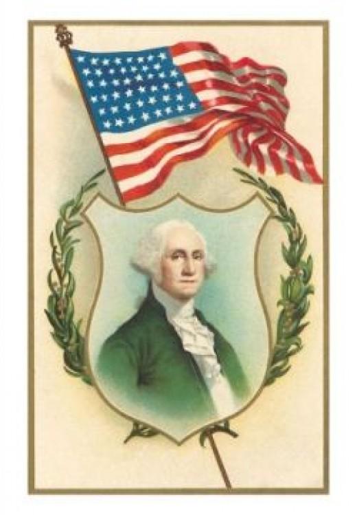 George Washington and Flag
