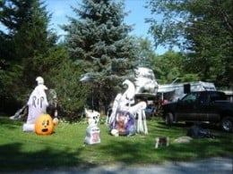 Halloween Decorated Lawn