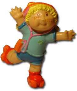 Roller skating Cabbage patch Kids PVC toy