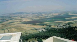 The view of the Jezreel Valley from Mount Carmel, where Elijah called down fire from heaven on the Prophets of Baal.
