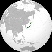 Map showing Japan