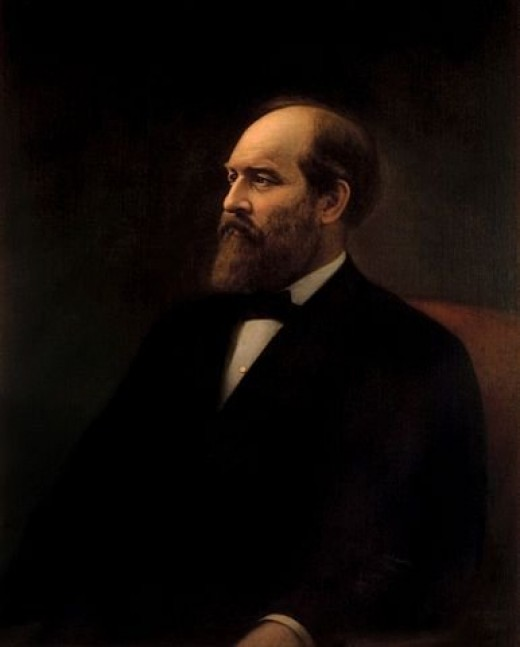 Official White House portrait of James Garfield