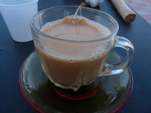Omani Milk and Ginger (or Cardamon) Tea