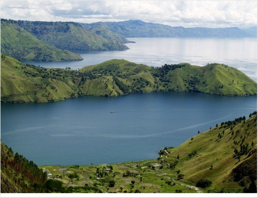a side of toba, vacation destination in north sumatra, Indonesia