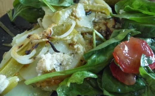 Potato Bake with fresh salad