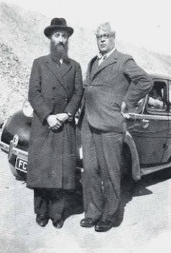 Mendes with his friend - Rabbi Kruger