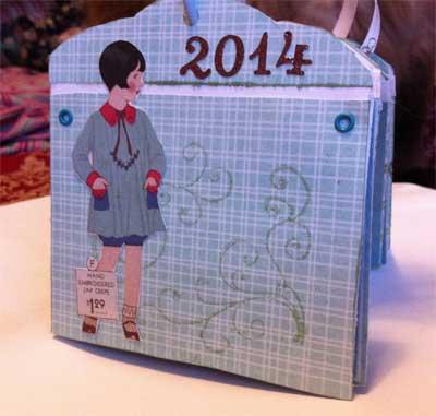 Small Hand Made Calendar Front