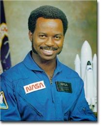 Recruited for NASA by Nichelle Nichols, Lt. Uhuru on ST:TOS.