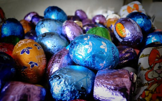 Foiled Chocolate Easter Eggs