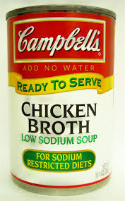 Campbells chicken broth can