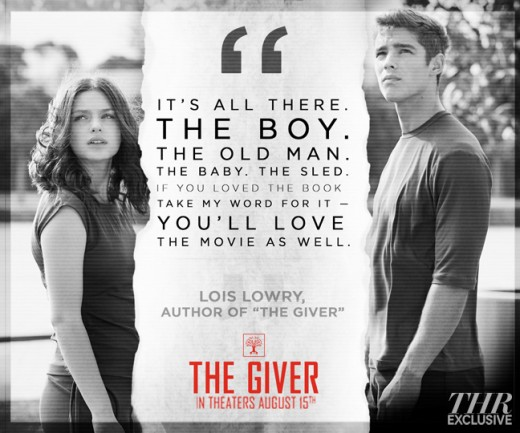 The Giver, movie review, lois lowry