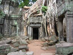 Angkor Wat Temple Doorway, Cambodia