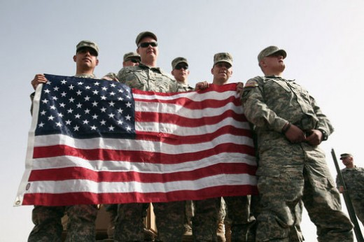 These brave men (and women) fight to protect and serve our country so that we can have the right to fly OUR countries flag where ever we want to.