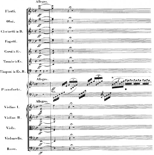 First page of the score