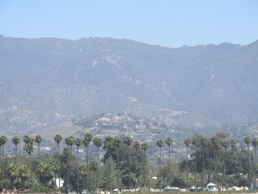 view of Santa Barbara from Stearn's Wharf