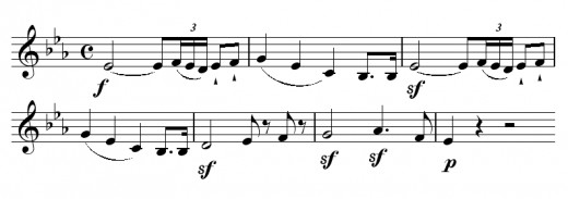 The theme in the first movement