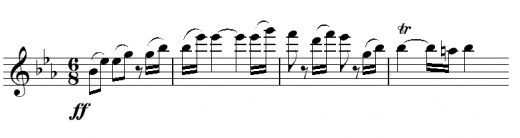 The theme in the third movement