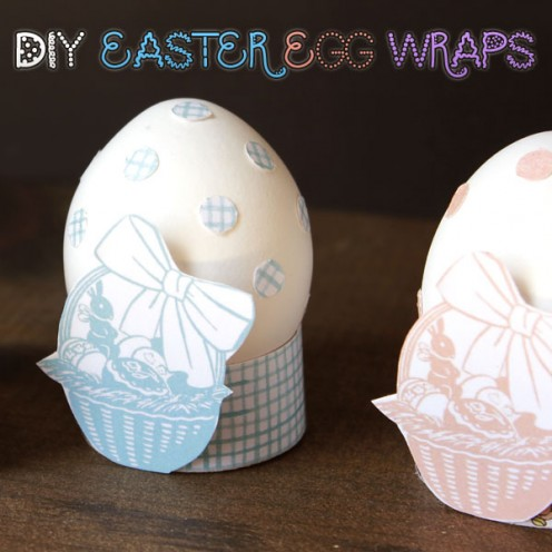 Make egg wraps to display colored eggs.