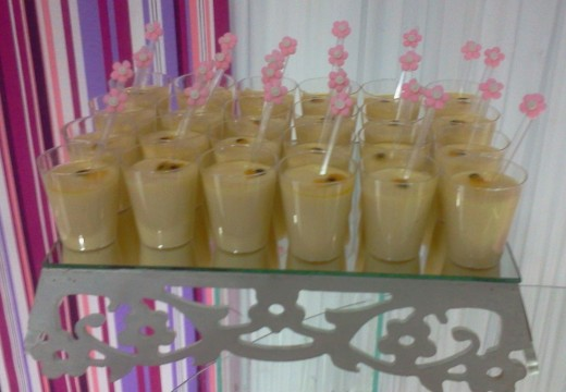Passion Fruit Mousse in little Cups