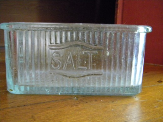 Pressed glass saltbox image (c) marye audet