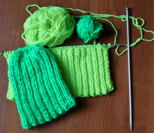 Reflective Yarn in Green, Heads Up Yarn in Citrus
