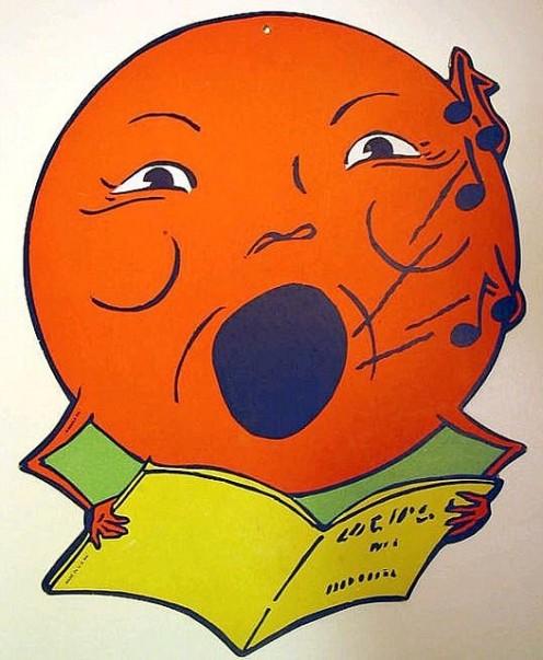 Vintage Beistle Singing Moon Diecut