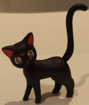 Up close shot of Luna, who comes with the Sailor Moon Figuarts.